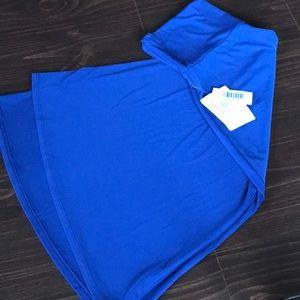 LuLaRoe Azure Skirt, Beautiful Blue, Size M, NWT